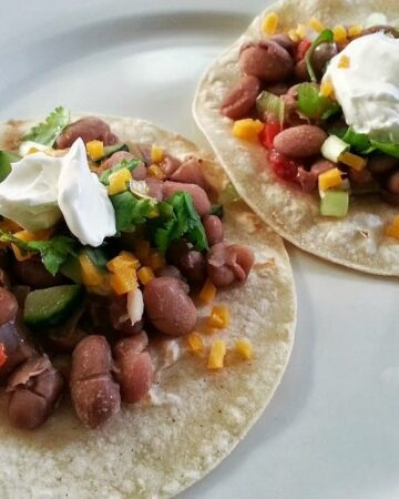 Veggie and Bean Tacos | In Mama Maggie's Kitchen