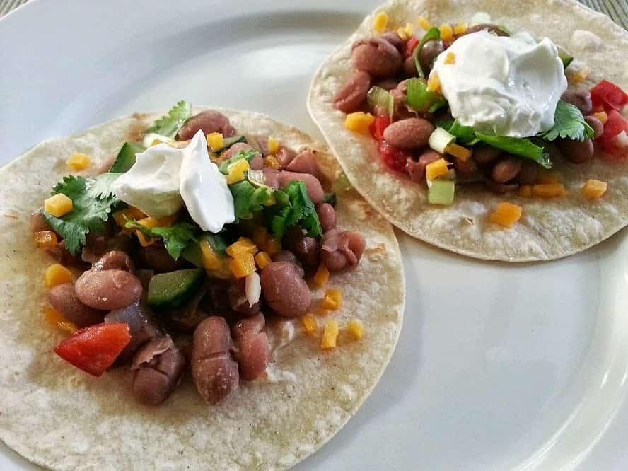Veggies and Bean Tacos