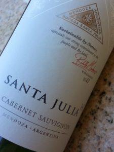 Santa Julia Cabernet Sauvignon | In Mama Maggie's Kitchen