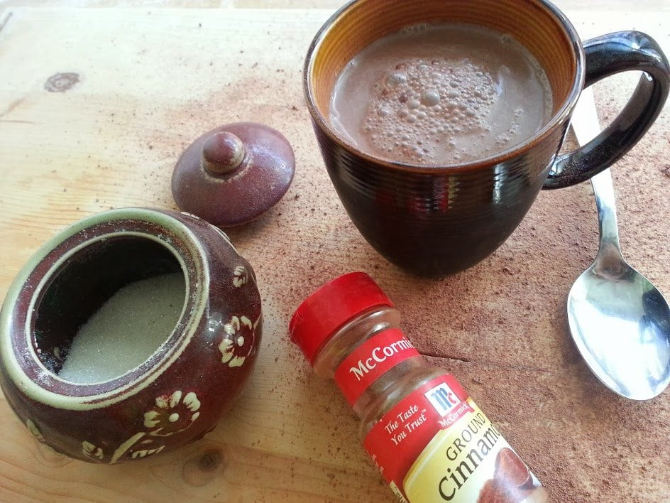 Mexican Style Hot Chocolate is a delicious way to stay warm. by Mama Maggie's Kitchen