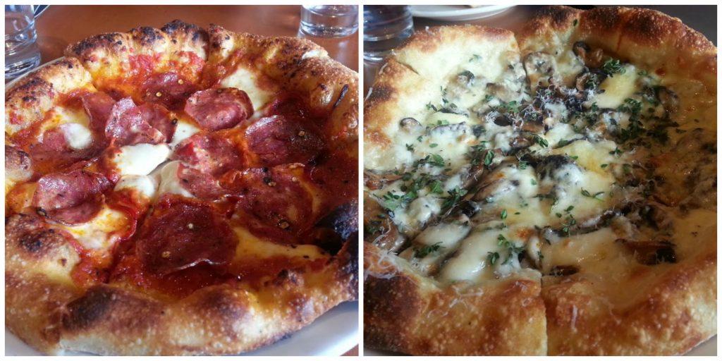 2 pizzas at Pizzeria Mozza