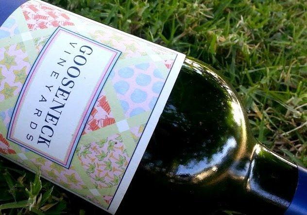 Cheers with Gooseneck Vineyards Prosecco