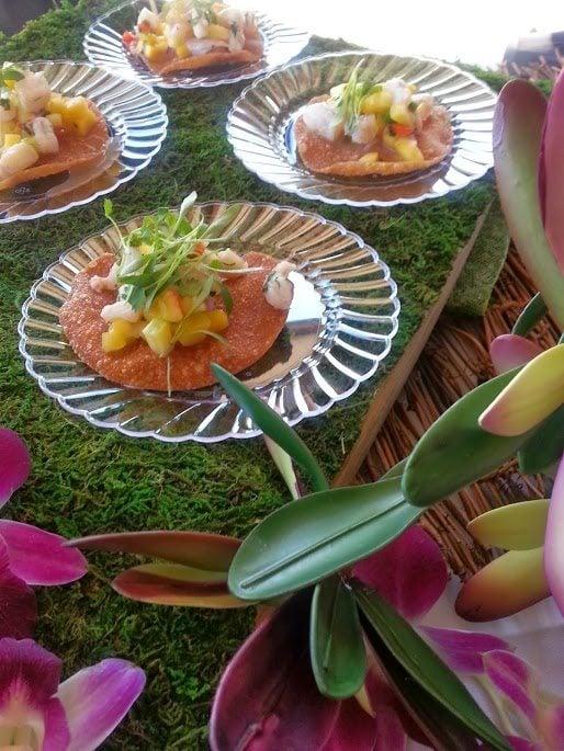 A sweet tropical mango and shrimp ceviche.