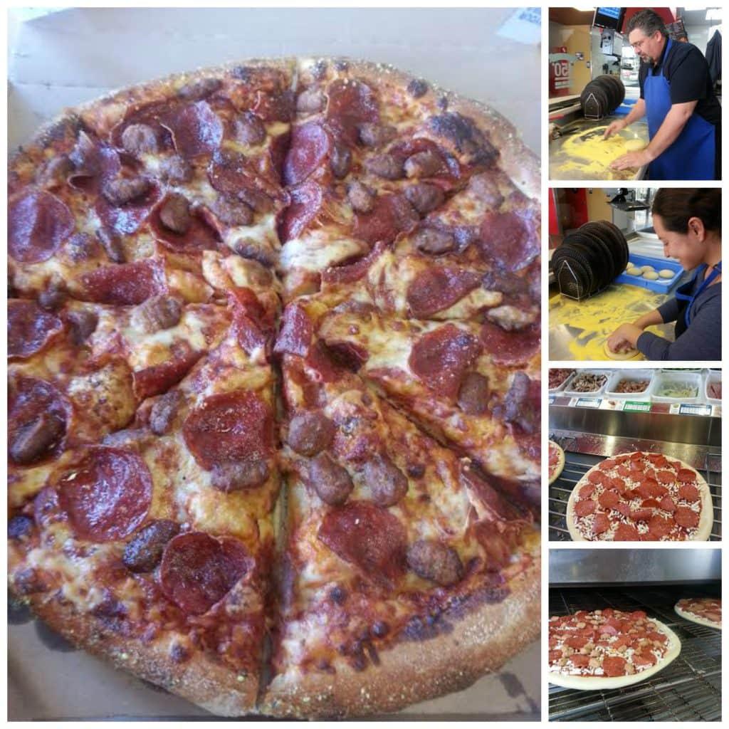 Making a pepperoni Pizza