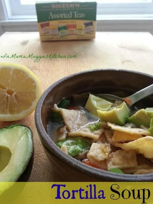 Tortilla Soup Using Bigelow Tea