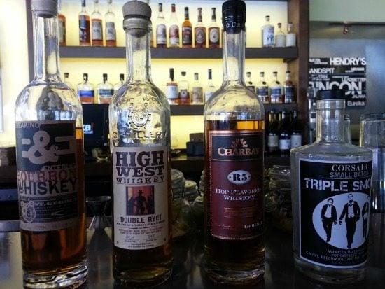 4 bottles of whiskey