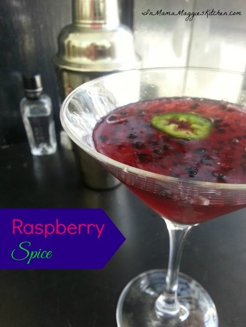 Raspberry Spice martini