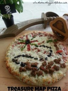 Treasure Map Pizza | In Mama Maggie's Kitchen