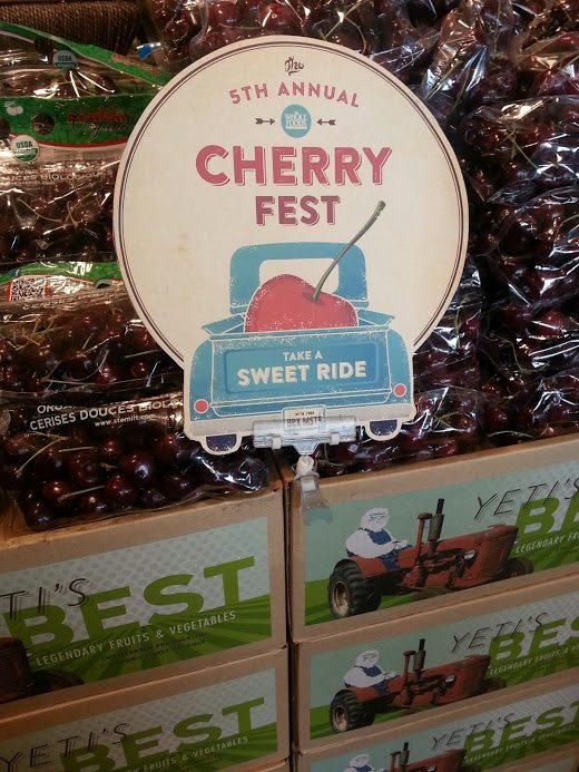 Cherry Fest at Whole Foods