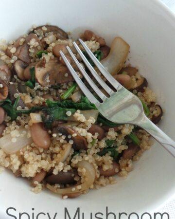 Spicy Mushroom Quinoa Salad