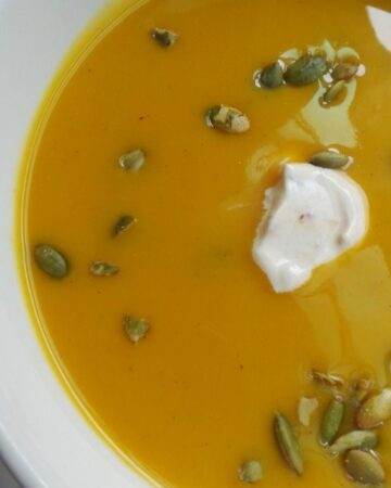 Butternut Squash Soup with Chipotle Sauce | In Mama Maggie's Kitchen