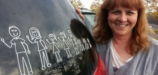 Michelle and her mini van