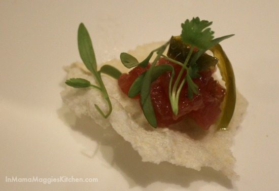 Seared Ahi Tuna with cilantro
