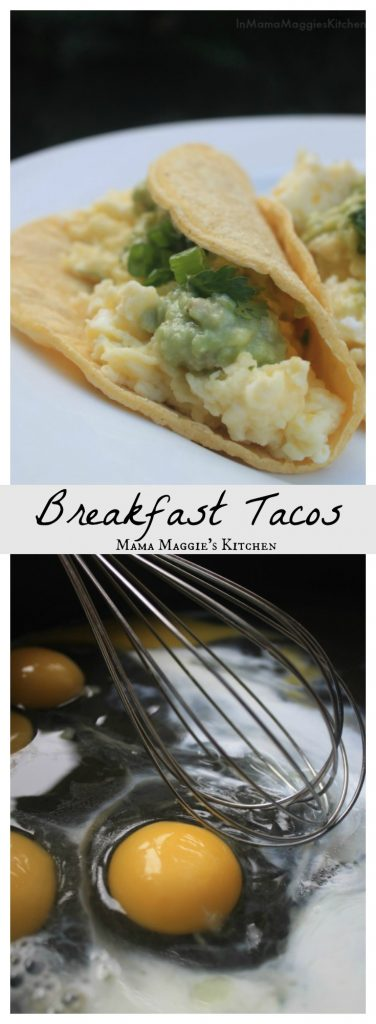 Breakfast Tacos and eggs