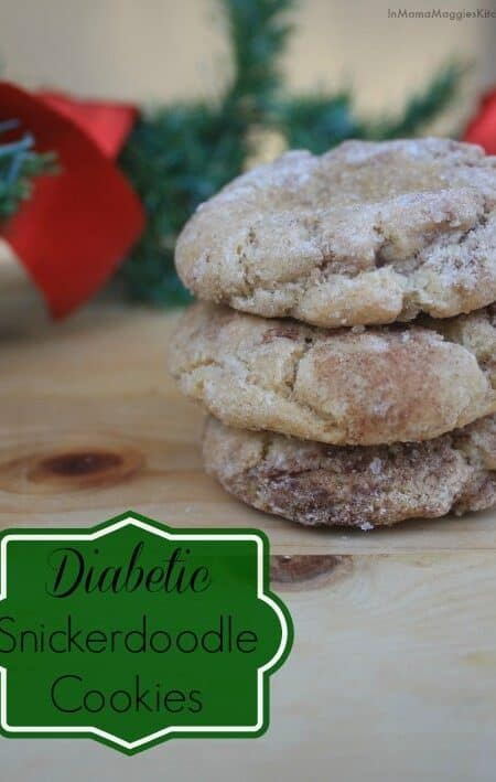 Diabetic Snickerdoodle Cookies - low carb and delicious cookies. by Mama Maggie's Kitchen