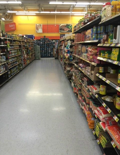 Hispanic Aisle at a grocery shop