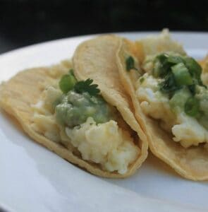Breakfast Tacos: Scrambled Egg Tacos