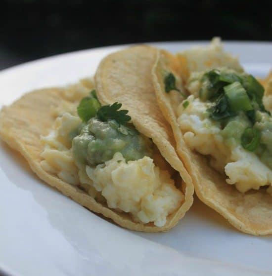 Breakfast Tacos: Scrambled Egg Tacos