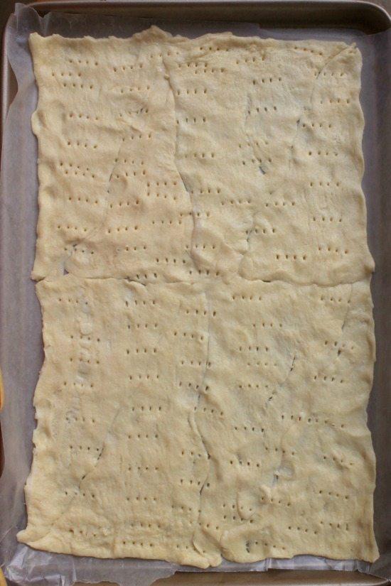Dough on a baking sheet