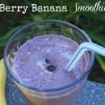 Berry Banana Smoothie is a quick breakfast or middle of the day snack to keep you going. Enjoy! by Mama Maggie's Kitchen