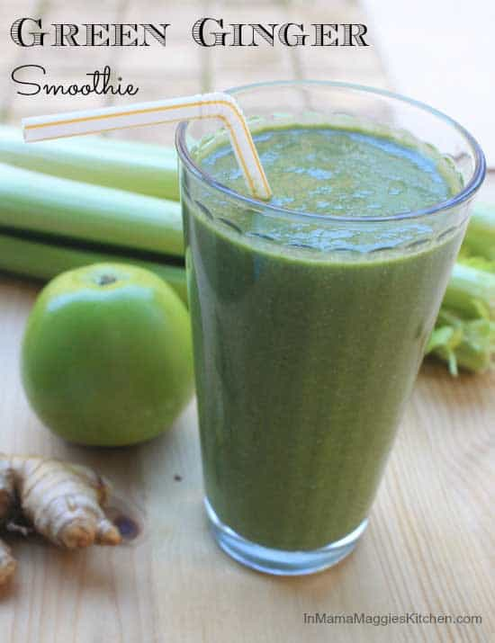 Green Ginger Smoothie - It's jam packed with nutrients to rebalance and regroup. By In Mama Maggie's Kitchen