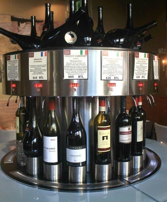 Wine Dispenser at Toast Enoteca