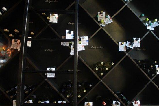 Wine bottles at Toast Enoteca
