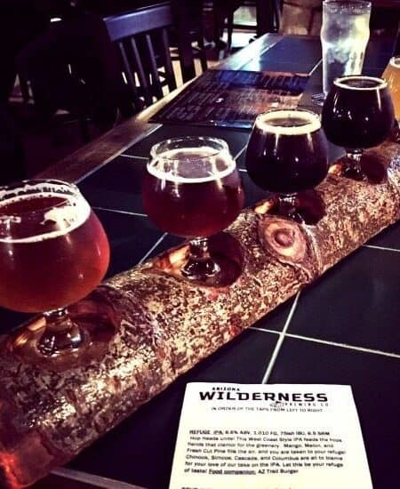 Beer Sampler at Arizona Wilderness