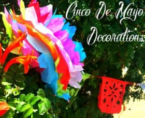 Cinco De Mayo Decor- Papel Picado and Paper Flowers
