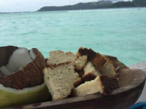 A Honeymoon in Bora Bora with Tahitian Coconut Cake