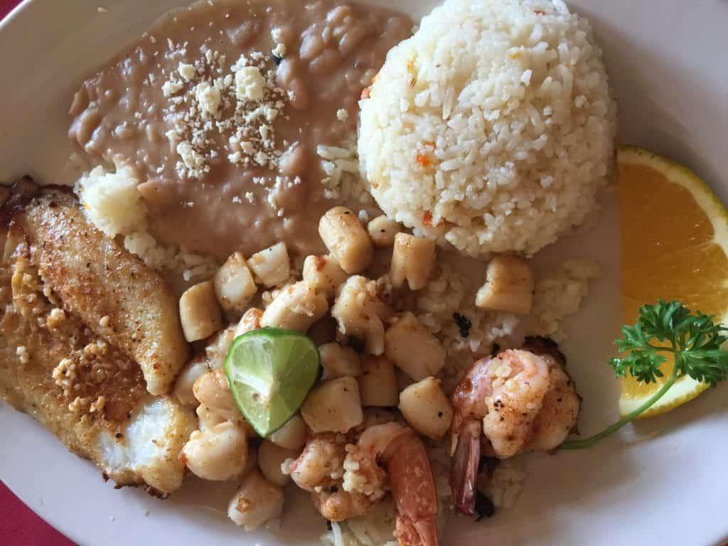 Fish and Scallops Platter