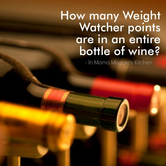 How many Weight Watcher Points are in an entire bottle of wine? quote