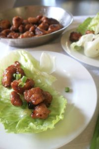Mandarin Orange Chicken Lettuce Wraps