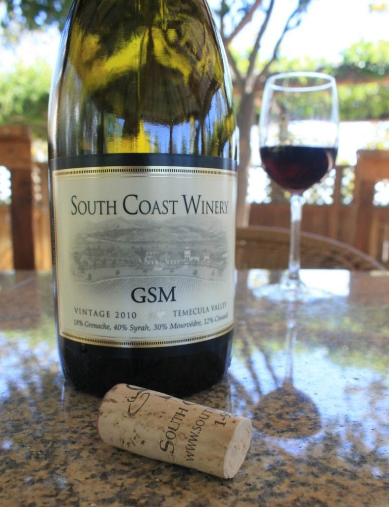 South Coast Winery GSM 2010 - Wine from Temecula, California