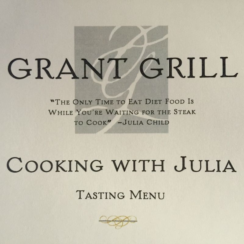 Grant Grill Tasting Menu