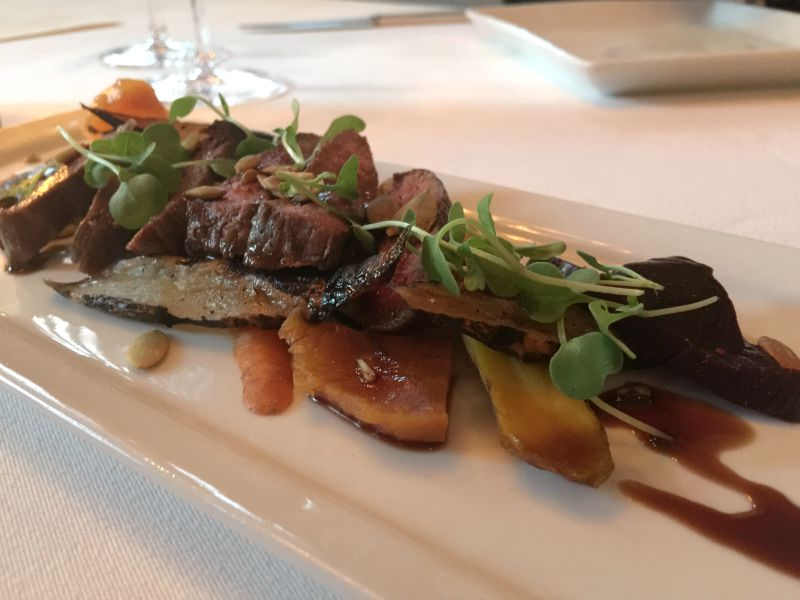 Grilled Lamb and Root Vegetables