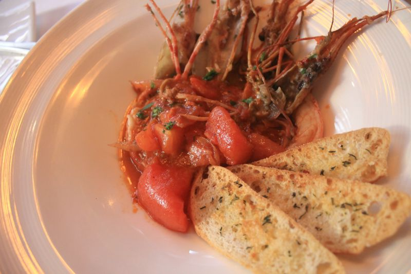 Prawns and tomato inspired by Julia Child and the Southern French cuisine