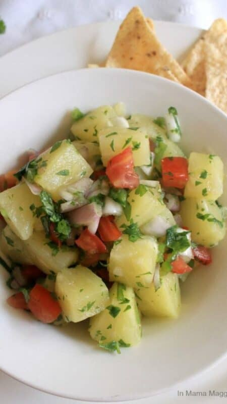 Salsa de Piña, or Pineapple Salsa - In Mama Maggie's Kitchen