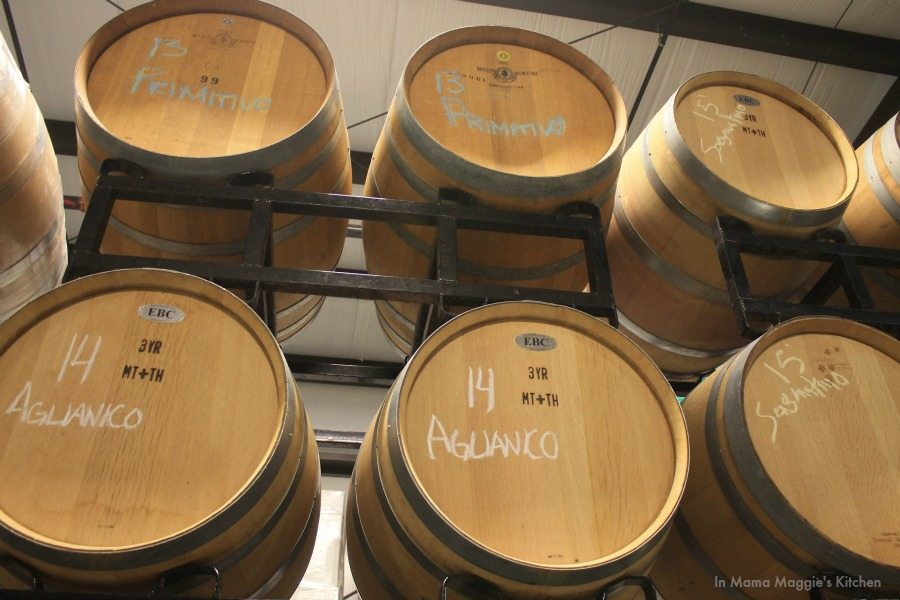 Wine Barrels at Cougar Vineyard in Temecula | In Mama Maggie's Kitchen