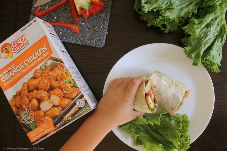 Crazy Cuizine Orange Chicken Burritos