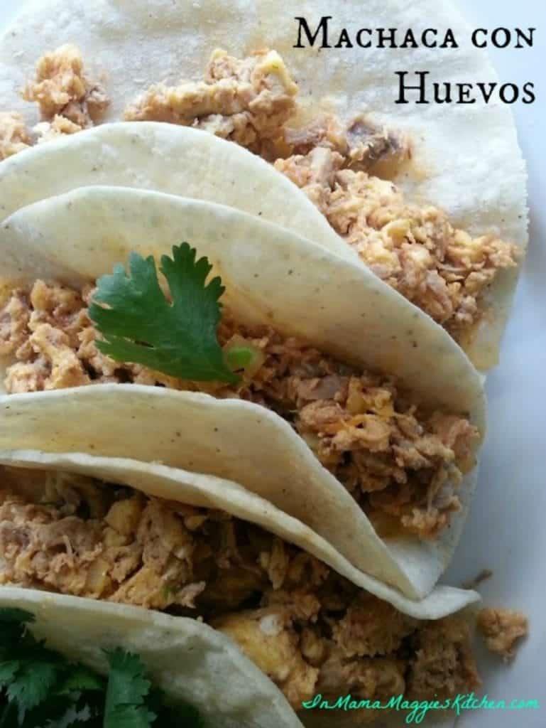Machaca con Huevos Tacos