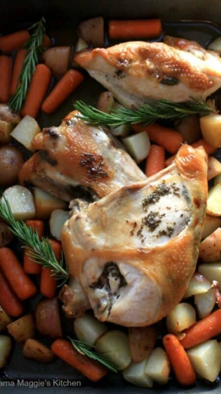 Roasted Rosemary Chicken | In Mama Maggie's Kitchen