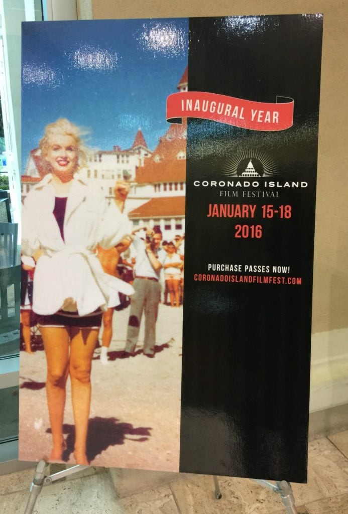 Inaugural Year Coronado Film Festival with Marilyn Monroe on it