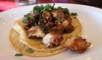 Taco Pulpo al Mojo de Ajo, or Octopus taco in a garlic sauce. - Mama Maggie's Kitchen