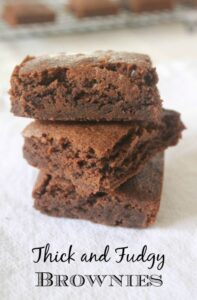 Thick and Fudgy Brownies