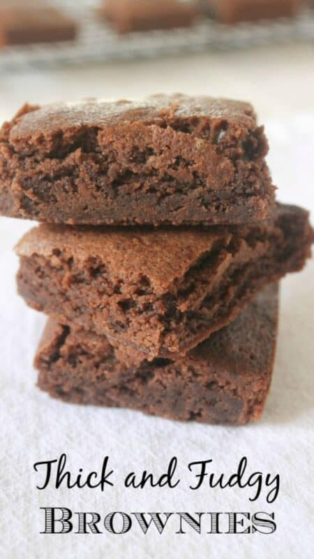 Thick and Fudgy Brownies by Mama Maggie's Kitchen