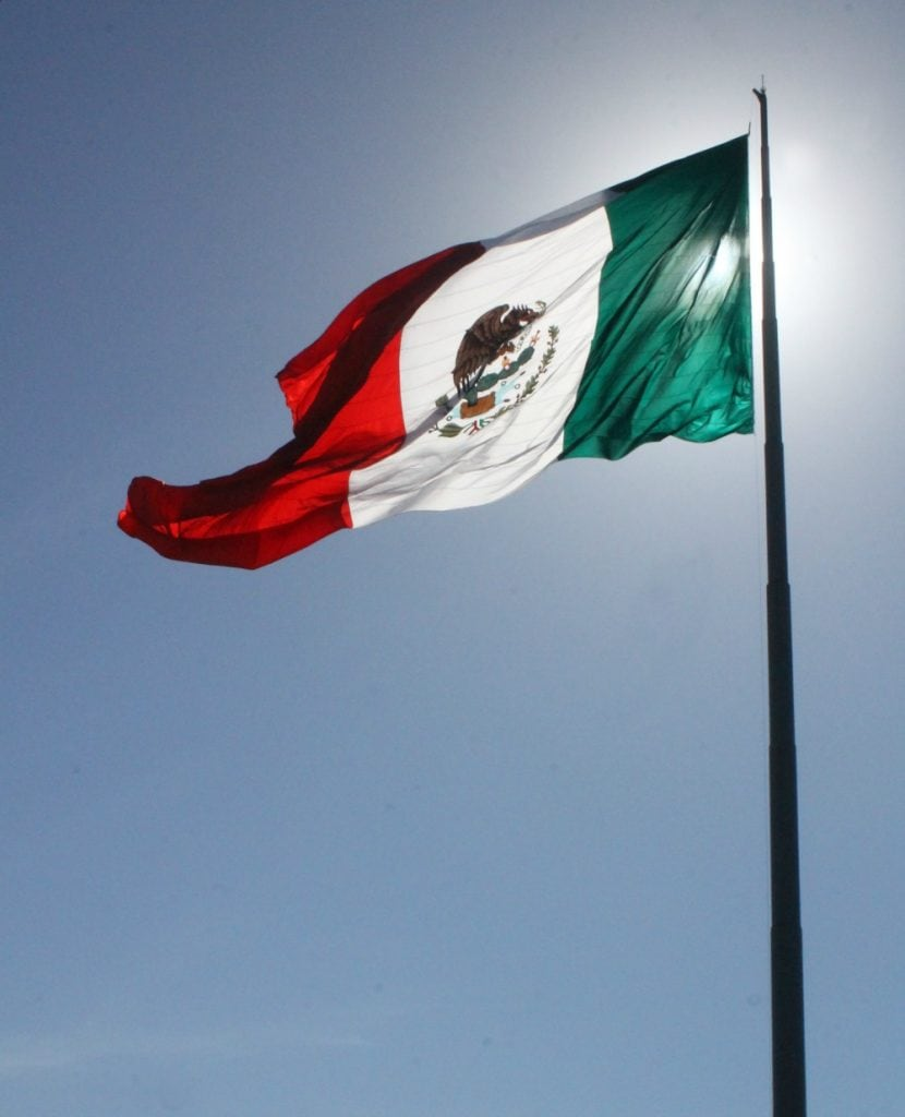 Mexican Flag in Ensenada, Mexico - by Mama Maggie's Kitchen