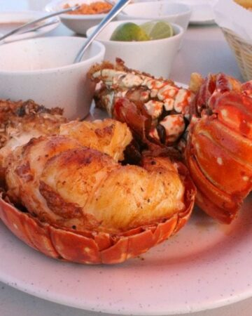 Puerto Nuevo Style Lobster - Mama Maggie's Kitchen