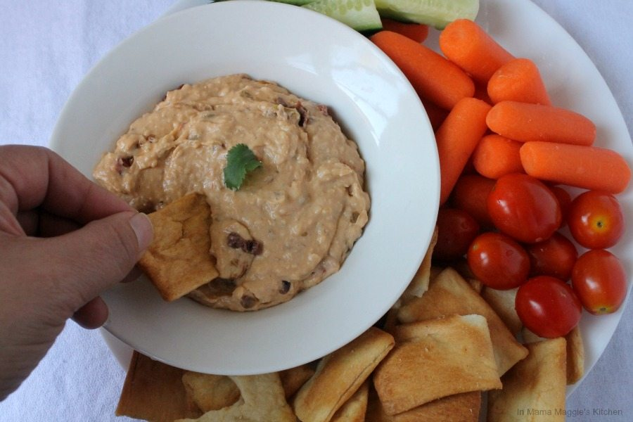 White Bean and Olive Dip, easy-to-make and so delicious - By Mama Maggie's Kitchen