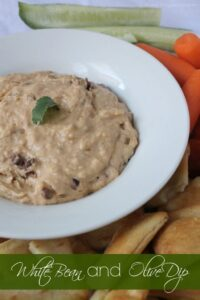 White Bean and Olive Dip, a creamy and healthy dip by Mama Maggie's Kitchen